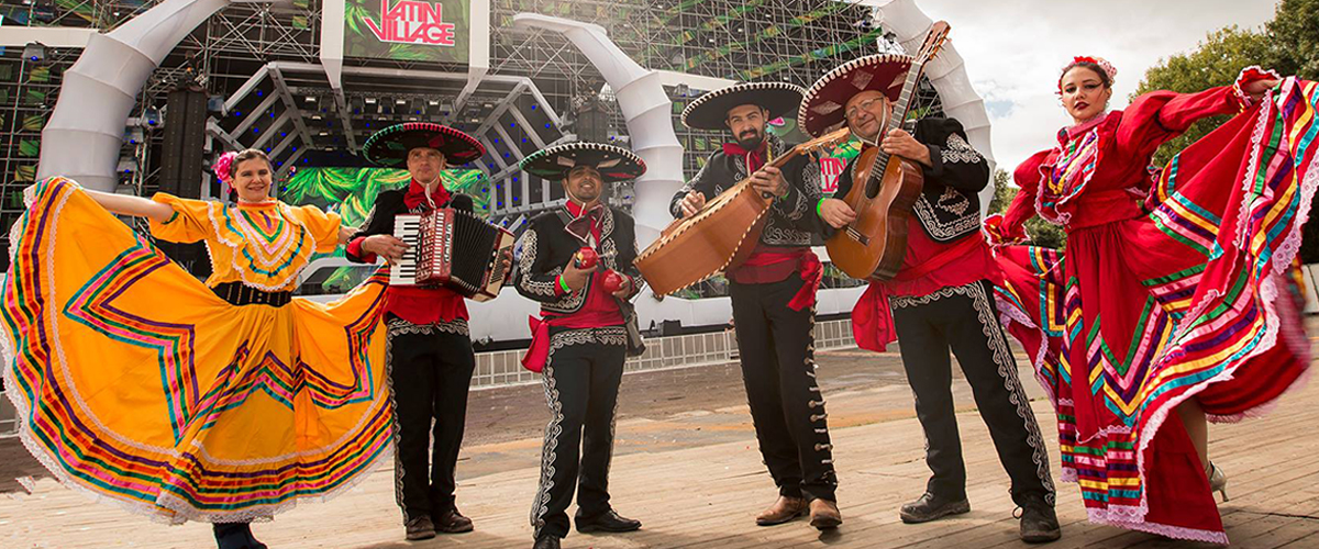 Mexicaanse Plaza Themafeest